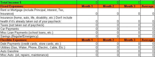 free expense tracking worksheet for budget planning leave debt behind