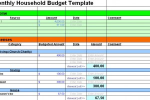 Free Sample Budget Spreadsheet