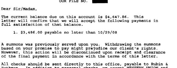 GE Money Bank Sample Debt Settlement Offer Letter Leave Debt Behind