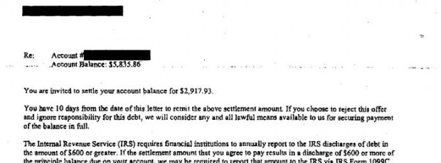 Wells Fargo Sample Debt Settlement Offer Letter Leave Debt Behind