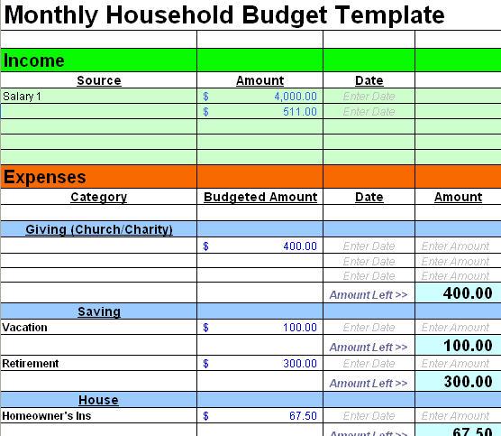 Free Sample Budget Spreadsheet Leave Debt Behind